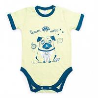 Боди-футболка Верес  Lemon Doggy кулир лимонный