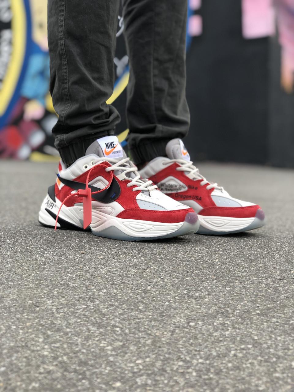 Кроссовки Nike Air*OFF-WHITE Белые-Красные