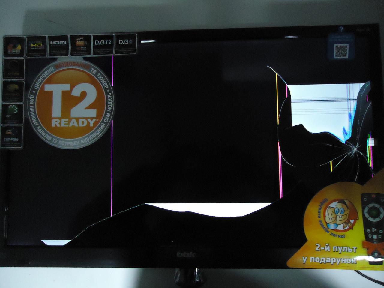 """Телевизор 24"""" BBK 24LEM-1004 на запчасти (JUC7.820.00085101, AY034D-2MF12, AY034D-2HF, 3BS0038614)"""