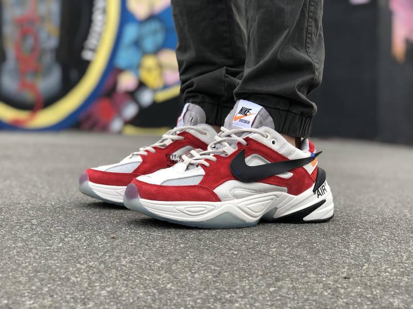 Кроссовки Nike Air*OFF-WHITE Белые-Красные, фото 2