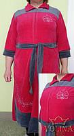 Халат велюровый с вышивкой Ткань – велюр 100% хлопок