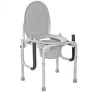 Стальной стул-туалет с откидными подлокотниками, фото 3