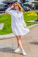 """Хлопковое летнее мини-платье """"Камила"""" с длинным рукавом"""