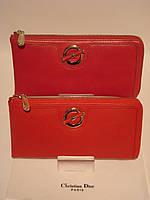 Женский кожаный кошелек- клач  Cartier