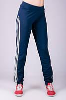 """Женские брюки """"Фитнес"""" синие, фото 1"""