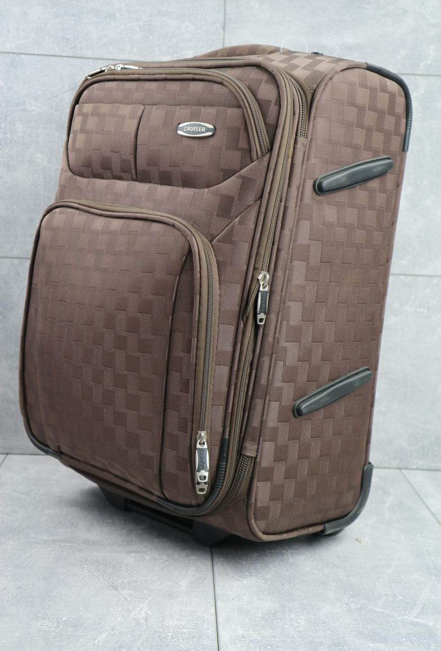 Дорожний чемодан Cruizer вместительный качественный  большой на колесиках с ручкой коричневый