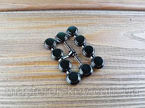 Пряжка 018110 23мм цвет темный-никель