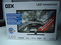 """Телевизор 20"""" DEX LE-2040 на запчасти разбита матрица (M195FGE, TP.VST59.P63 L340-13)"""