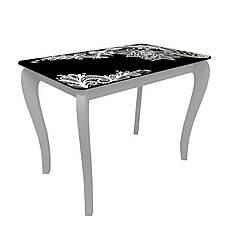 Стол обеденный со стеклянной столешницей ДКС Классик Антоник, цвет на выбор, фото 2