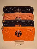 Женский кожаный кошелек- клач  Cr. Dior