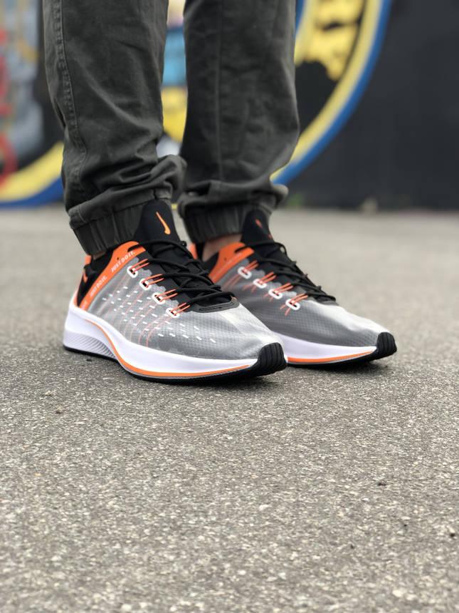 Кроссовки Nike EXP-X14 Черные-Оранжевые, фото 2