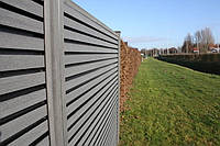 Доска для забора из ДПК HOLZDORF Impress (б/ш) 149х35х3000 мм, фото 1