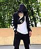 Мантия унисекс в стиле Off white Cross pixel черная - Фото