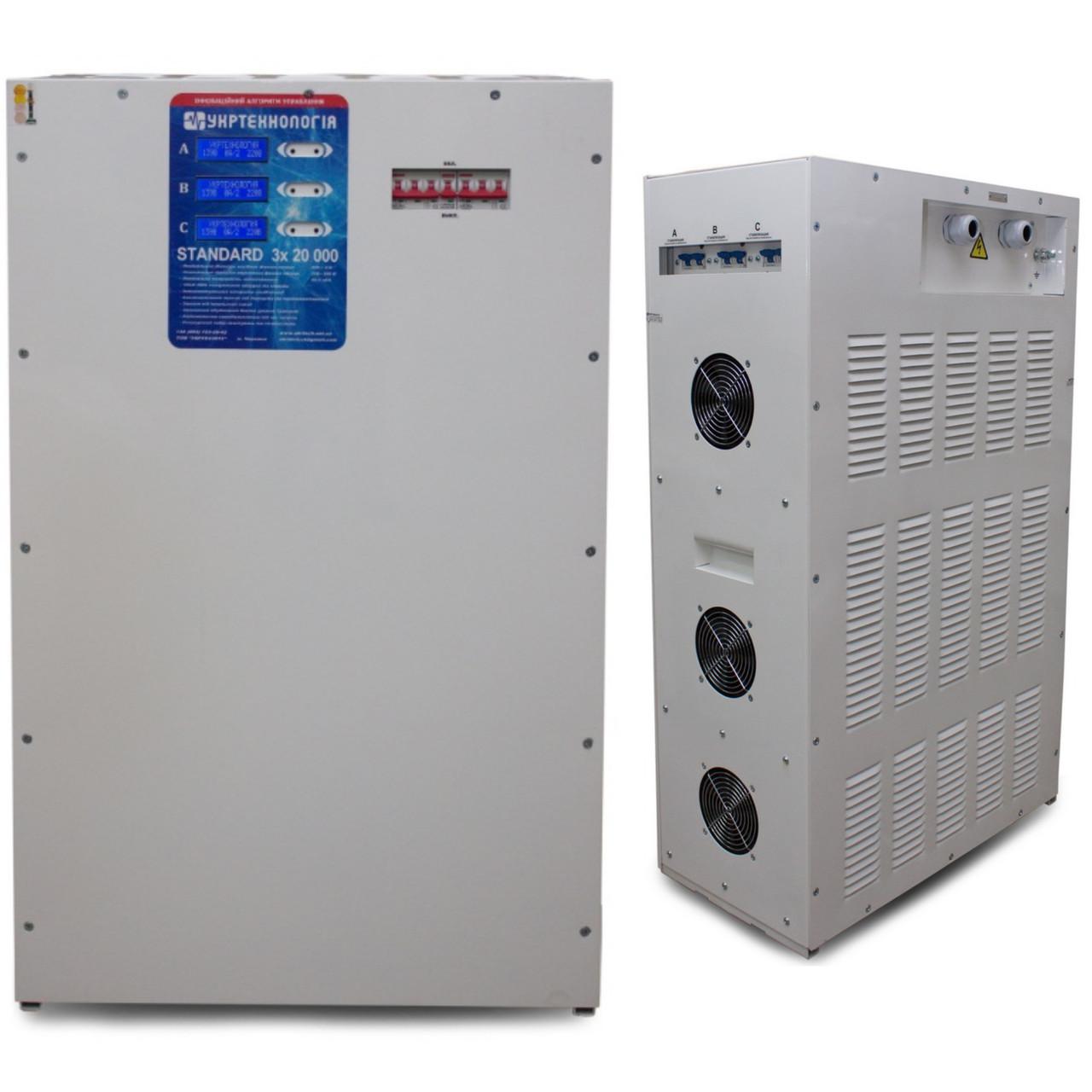 Стабилизатор напряжения Укртехнология HCH 3x7500 Optimum LV 21,12 кВт