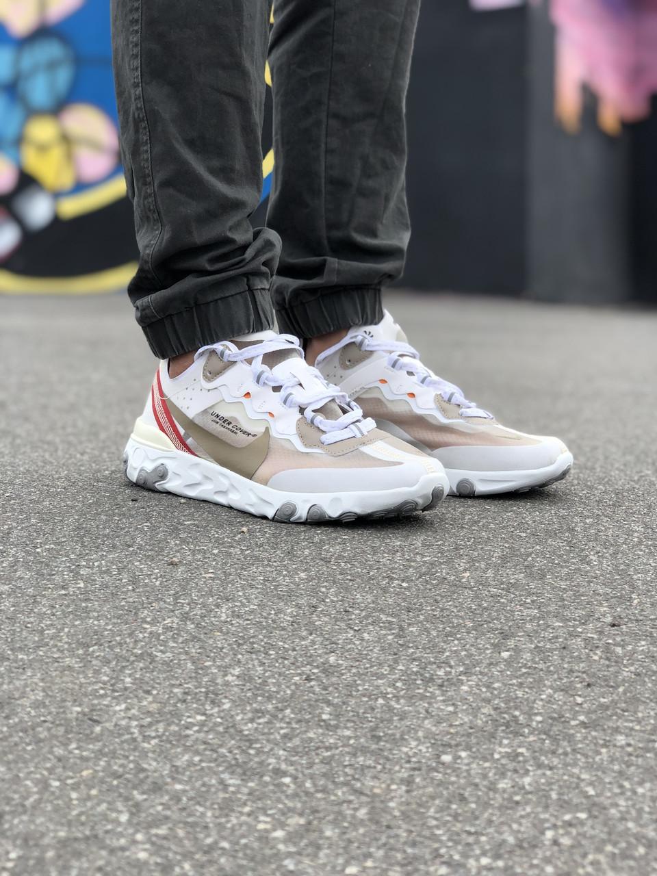 Кроссовки Nike Undercover Белые-Красные