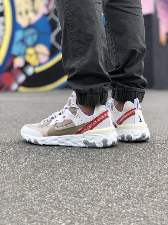 Кроссовки Nike Undercover Белые-Красные, фото 2