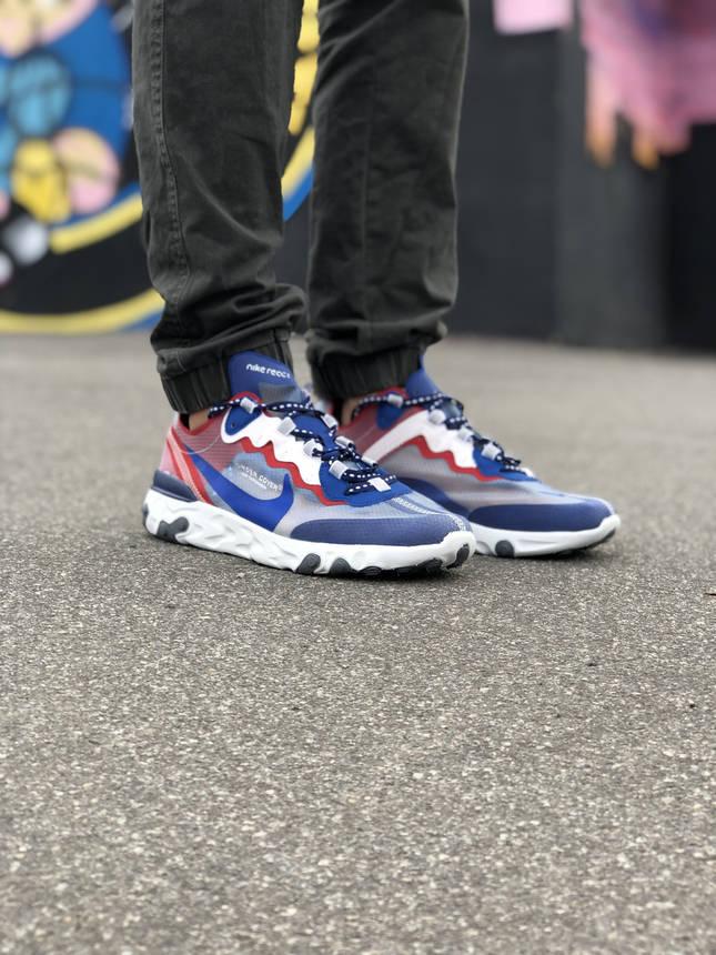 Кроссовки Nike Undercover Красные-Синие, фото 2