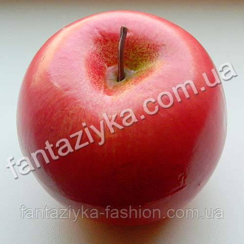Яблоко крупное 7см розовое, муляж