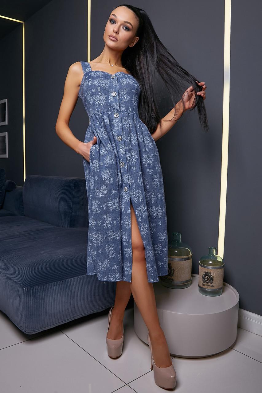 e85943b7c4ec7a Жіноче літнє плаття, синє, з квітковим принтом, молодіжне, повсякденне,  пляжне,