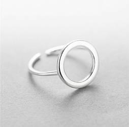 """Серебряное кольцо безразмерное """"Круг"""""""
