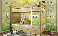 Двухъярусная  Деревянная кровать Рио 80х190 см ТМ Arbor Drev
