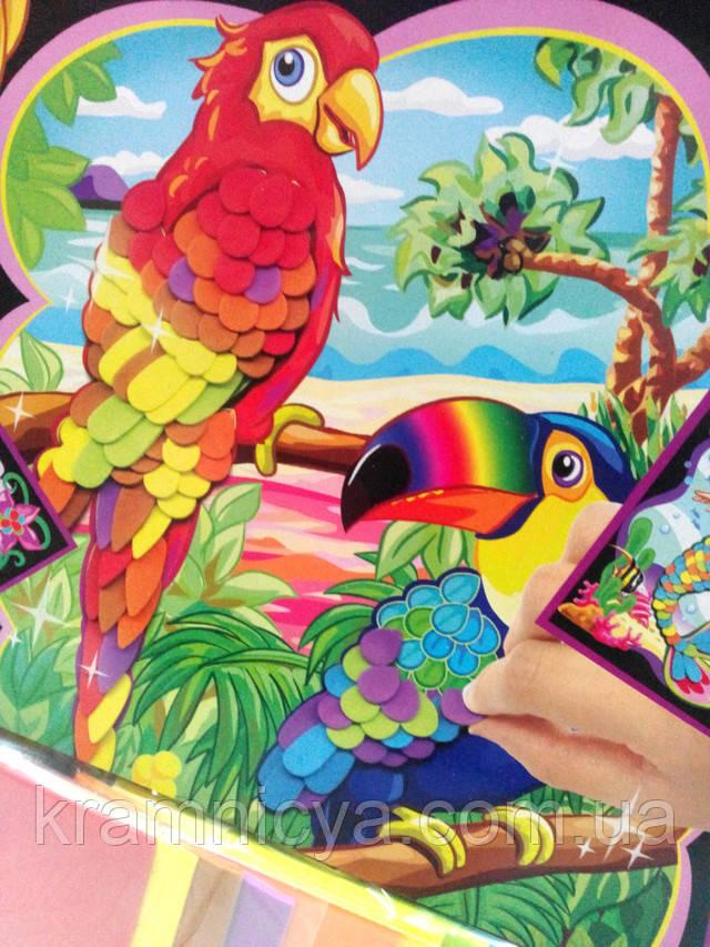 Купить набор для творчества WINX 3DF-EP100 Попугаи, аппликации, в коробке