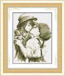 """""""Первый поцелуй"""" LasKo. Наборы для рисования камнями (на холсте)."""