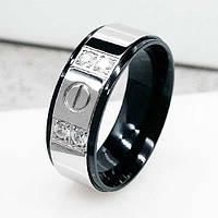 Обручальное кольцо из медицинской стали с четырьмя цикрониями 8 мм 101665