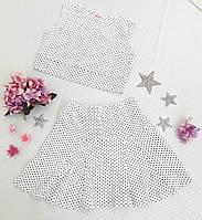 Детский летний комплект юбка+топ р. 116-128