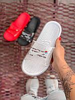 Сланцы Nike x Off-white Slides Full white Полностью белые, фото 1