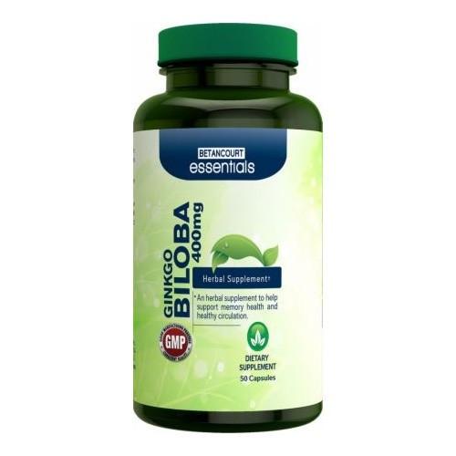 Препарат для повышения умственной энергии и работы мозга Betancourt Nutrition Ginkgo Biloba 400 mg (50 капс)