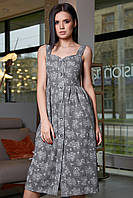 Жіноче літнє плаття, сіре, з квітковим принтом, молодіжне, повсякденне, пляжне, романтичне, сарафан