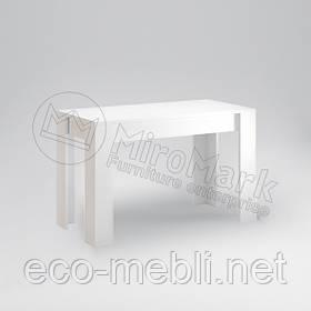 Стіл столовий 1200х650 у вітальню Рома Білий Глянець Міромарк
