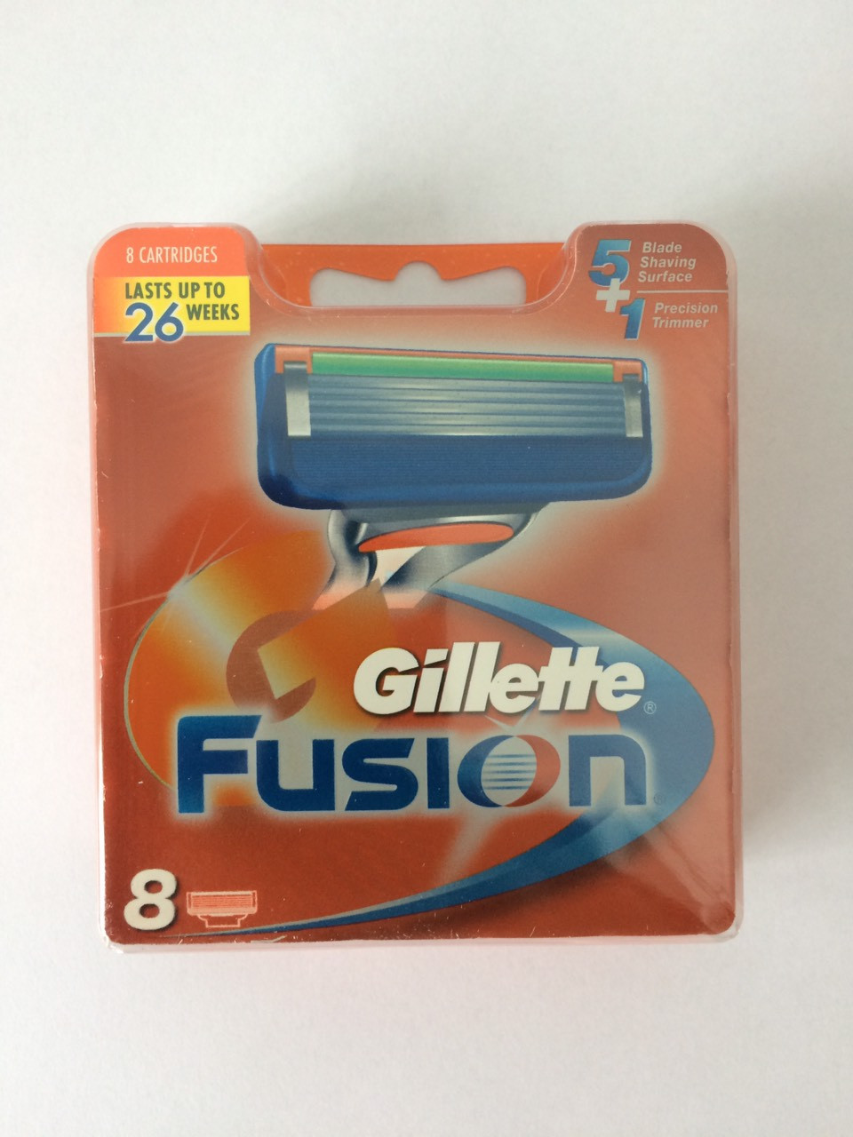 Кассеты для бритья Gillette Fusion 8 шт. Арабка ( Картриджи, лезвия Жиллет фьюжин оригинал )