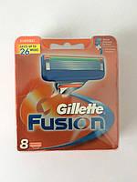 Кассеты для бритья Gillette Fusion 8 шт. Арабка ( Картриджи, лезвия Жиллет фьюжин оригинал ), фото 1