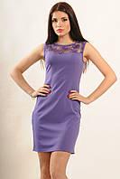 """Облегающее легкое летнее платье """"Кашибо"""" фиолетового цвета,размерами 42,44,48,52."""