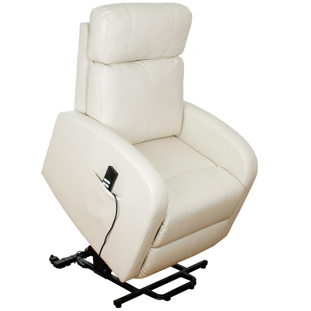 Подъемное кресло с двумя моторами CAROL (белого цвета)