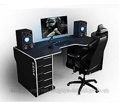 Геймерский эргономичный стол Viking-I, черный/белый