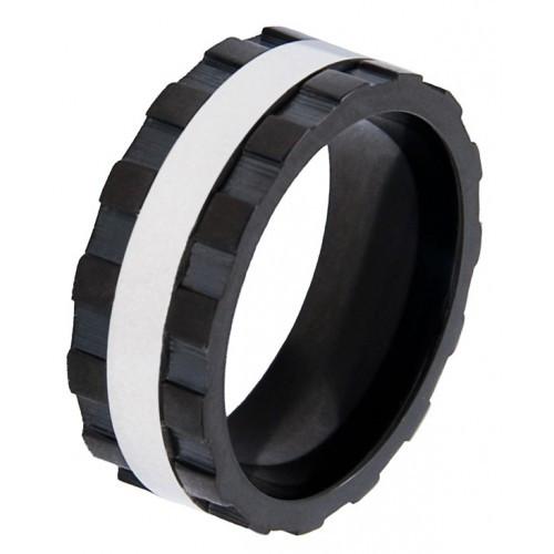 Кольцо из медицинской стали мужское  8 мм 101671
