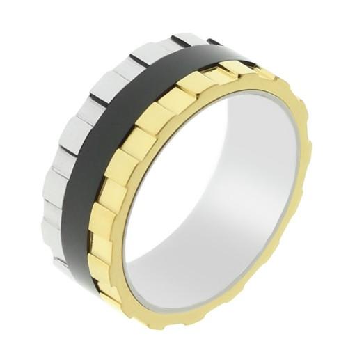 Мужское кольцо из стали Грани 8 мм 101673