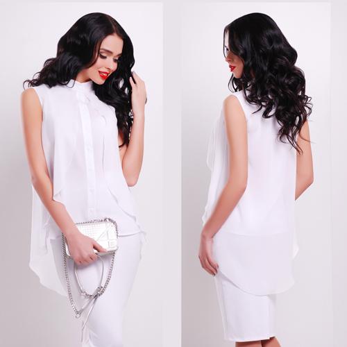 8a60a600c7ed Нарядная белая блузка с пелериной