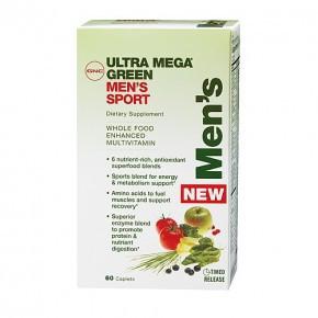 Мультивитаминный комплекс для мужчин GNC Ultra Mega Green Mens Multivitamin (60 таб)