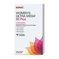 Витамины для женщин GNC Women's Ultra Mega 50 Plus (60 таб)