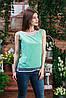 Блуза без рукава цвета мята,Бл-4462, фото 2