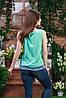 Блуза без рукава цвета мята,Бл-4462, фото 3