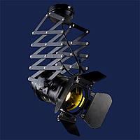 Светильник в стиле loft прожектор черный  LV 75215 BK