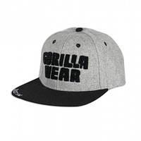 Бейсболка Gorilla wear Soft Text Flat Brim (Gray/Black)