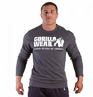 Футболка Gorilla wear Rubber printed longsleeve (Gray)