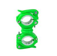 Держатель крепление для фонарика на велосипед Зелёный, фото 1