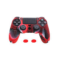 Чехол силиконовый для геймпада DualShock + стики под PlayStation 4 Fat/Slim/Pro